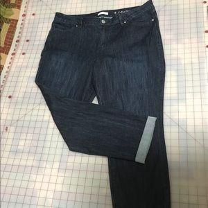 NWOT Lauren Conrad cuffed jeans size 16